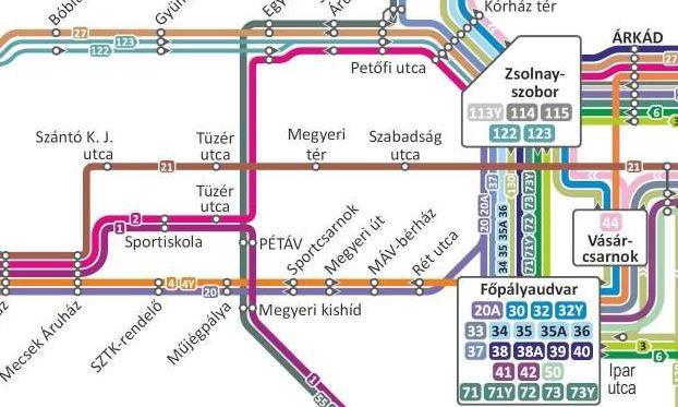 Pécs Tömegközlekedés Térkép